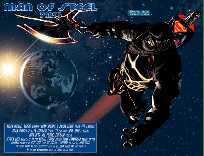 Death Of Superman, man of steel 5, the man of steel 5, brian michael bendis, bendis superman, superman, rogul zaar, adam hughes, alex sinclair, Jor El, Lois Lane