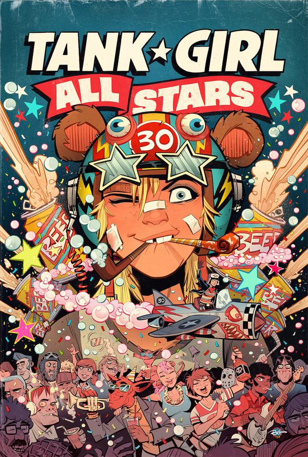 Tank Girl All Stars, Tank Girl, Alan Martin, titan comics, tank girl 30th anniversary, stranger things